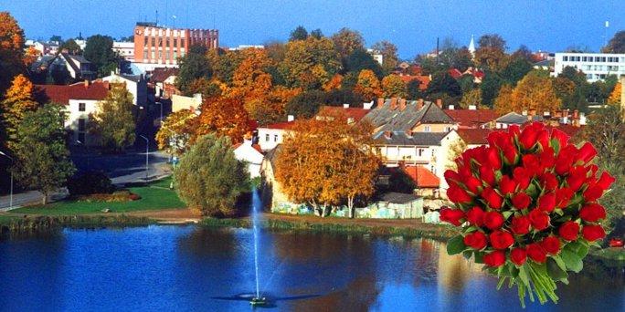 Ziedu piegāde Brocēni (Latvija). Nopirkt ziedus Brocēnos