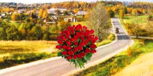 Ziedu piegāde Lecava (Latvija). Nopirkt ziedus Lecavā`