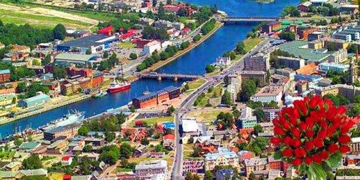 Ziedu piegāde Liepāja (Latvija). Nopirkt ziedus Liepājā