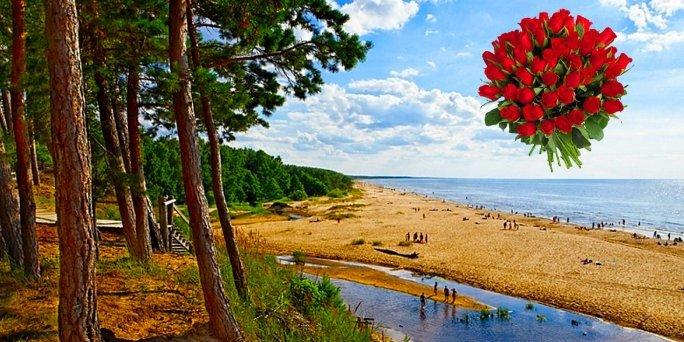 Ziedu piegāde Saulkrasti (Latvija). Nopirkt ziedus Saulkrastos