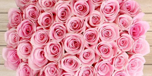 Ko nozīmē rozā rožu pušķa dāvana, kas piegādāta Rīgā (Latvija)?