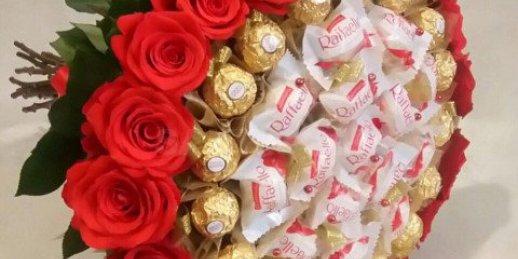 Kā izveidot konfekšu pušķa dāvanu uz jebkuriem svētkie