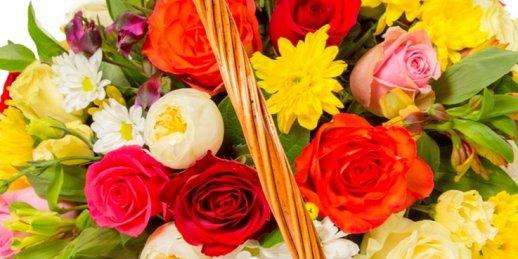 Ziedu pasūtīšana internetā uz 40. dzimšanas dienu ar piegādi Rīgā un visā Latvijā