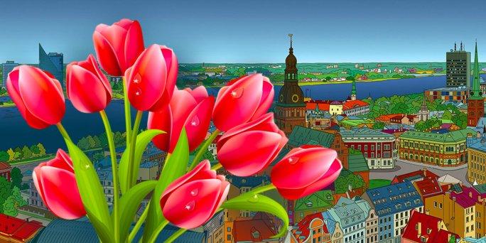 Заказ цветов в Риге