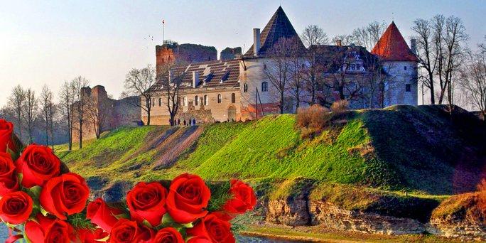 Доставка цветов Бауска (Латвия). Купить цветы в Бауске