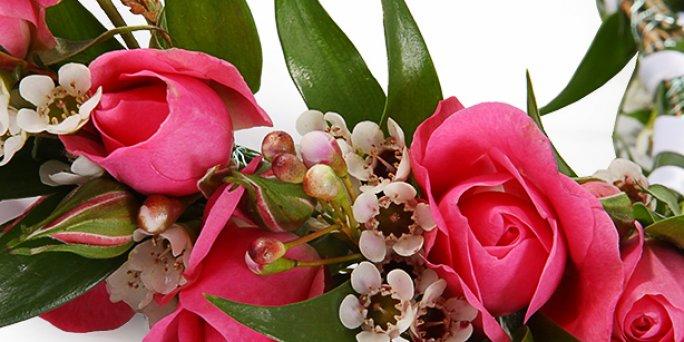 Купить цветы в Риге: букет из кустовых гвоздик.