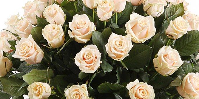 Заказ цветов Рига: цветы в коробке с макаронами.