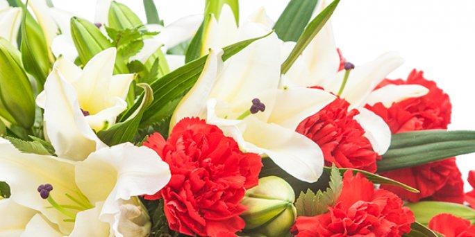 Где купить цветы в Риге: белые клетки цветов.