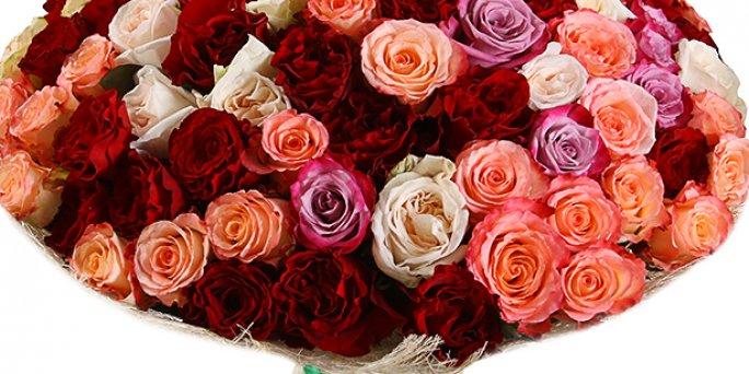 Купить цветы в Риге: 25 роз.