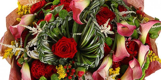 Доставка цветов Рига: букет из розовых роз.