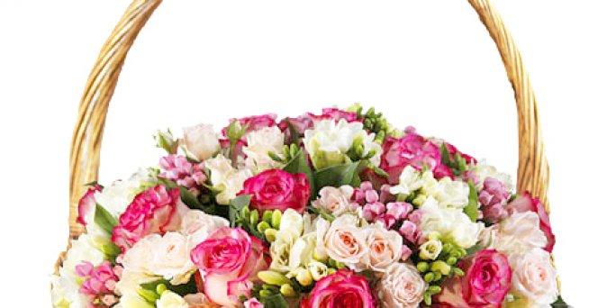 Доставка цветов Рига: высокие розы.