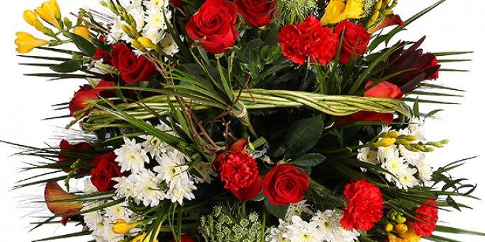 Где купить цветы с доставкой в Риге: букет их орхидей.