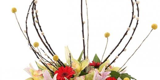 Как преподнести и где заказать цветы в Риге: нежный букет пионов.