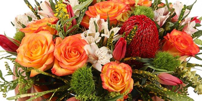 Заказ цветов Рига: Яркие букеты – это своеобразный вызов.