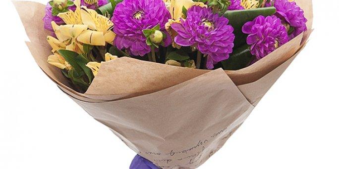 Купить цветы в Риге: 101 тюльпан.