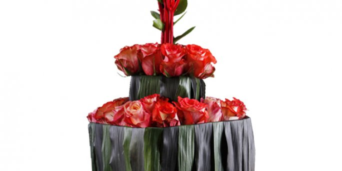 Как купить цветы в Риге: букет красных роз.