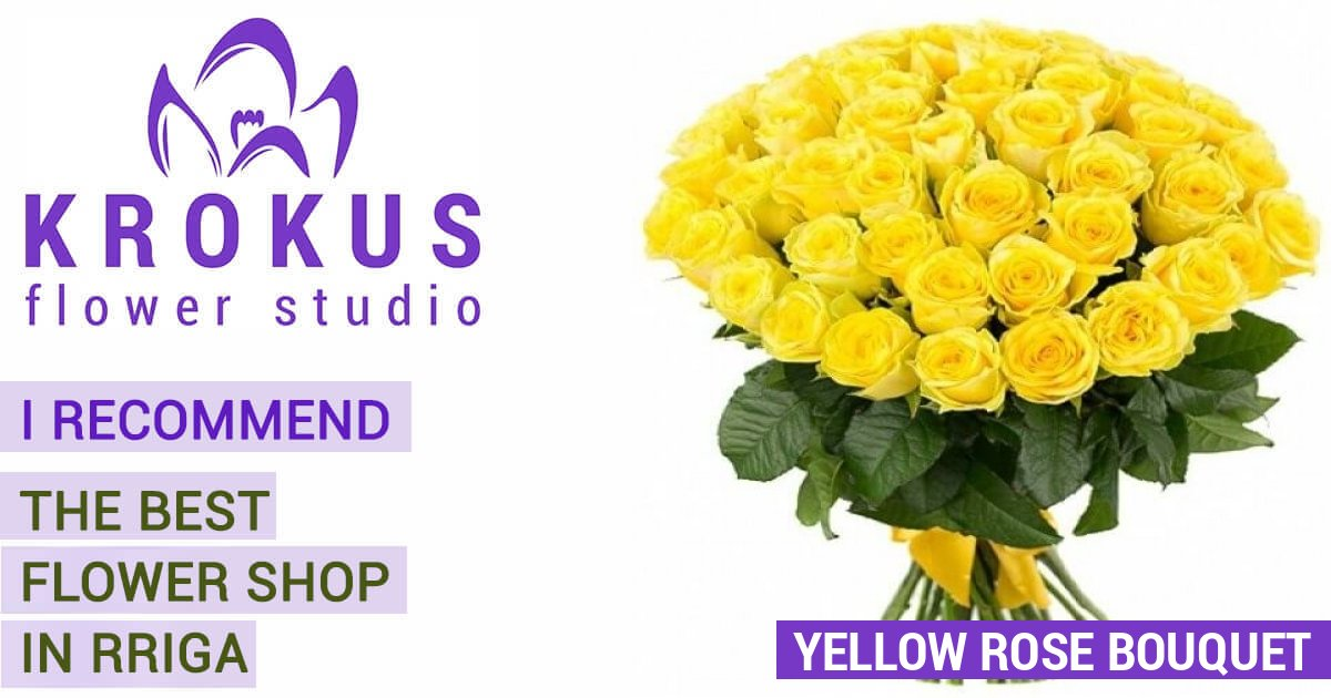 Yellow rose bouquet is the best bouquets with delivery in Riga and ...