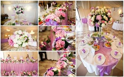 Оформление свадебного стола цветами Рига и вся Латвия. Оформление свадебных столов для гостей цветами. Украшение стола молодожен