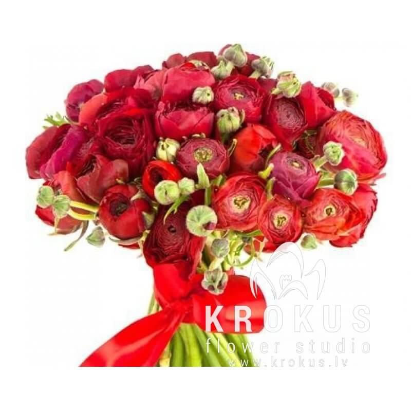 Bouquet of ranunkulys TANGO is a bouquet of fresh cut flowers ...