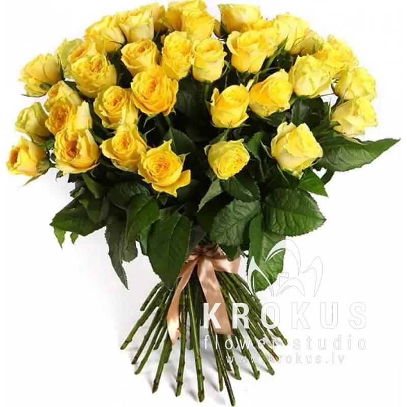 Dzeltenas rozes 50cm