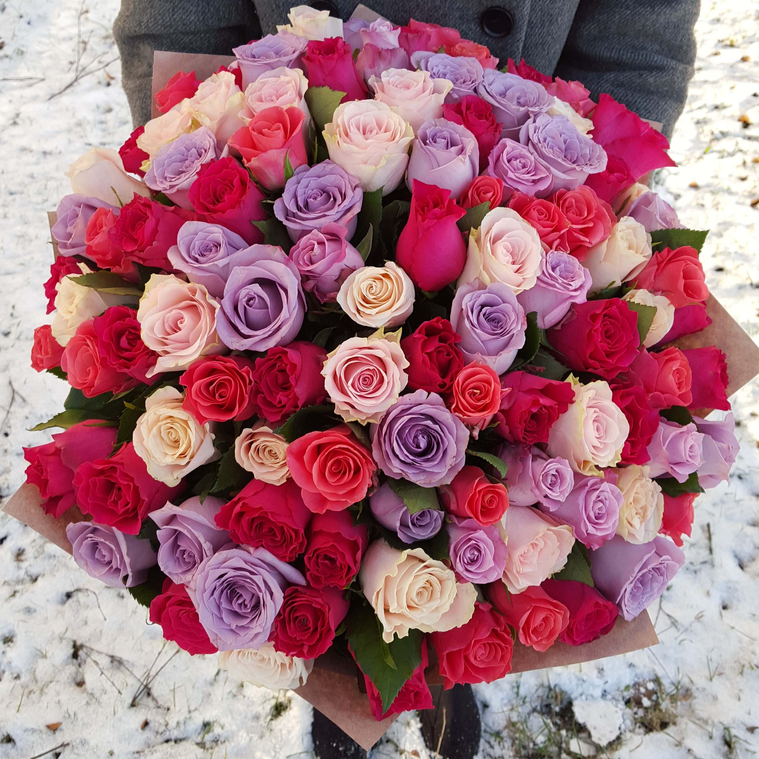 101 Roses Mix Super Cena Is The Best Bouquets With Delivery In