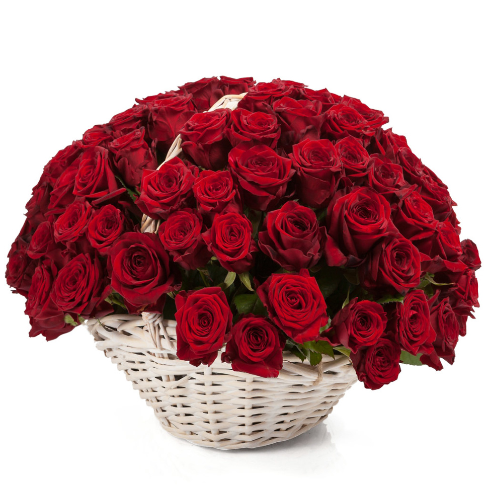 Basket Of Roses Is A Beautiful Bouquet Of Flowers In A Basket Fast