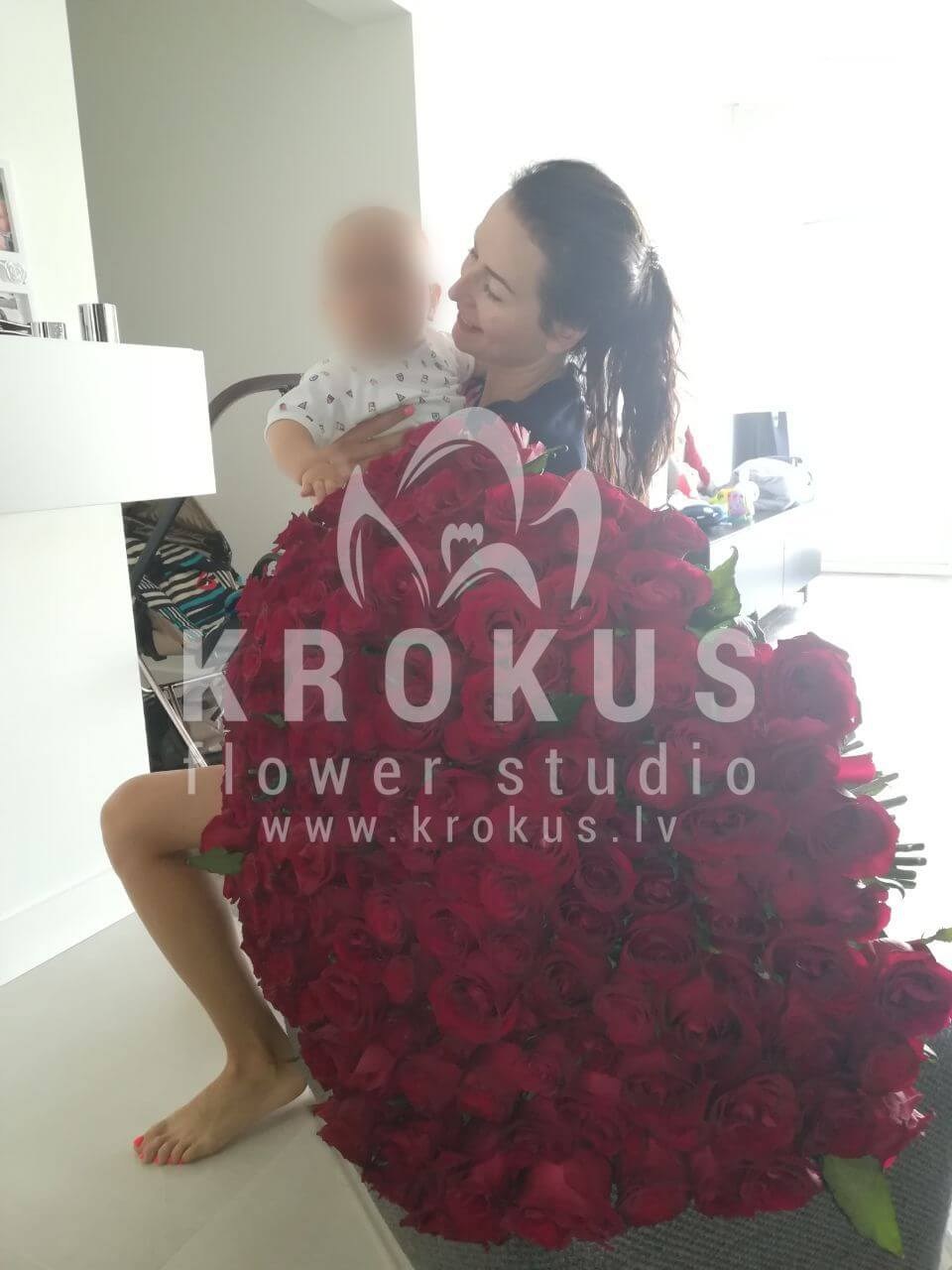 Deliver flowers to Rīga (red roses)