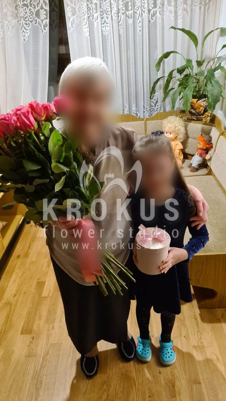 Deliver flowers to Rīga (pink roses)